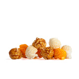 Greenville Mix popcorn, Caramel, White Cheddar, and Golden Cheddar popcorn