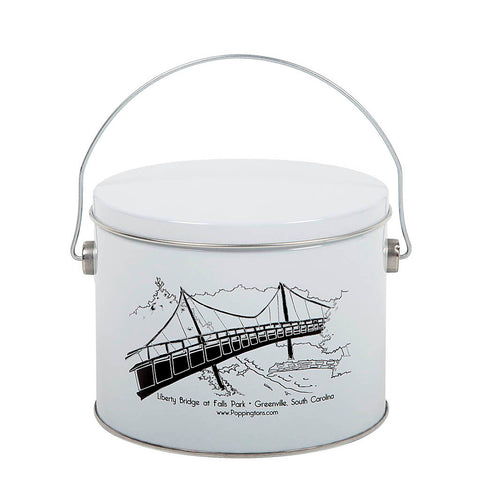 Liberty Bridge, South Carolina-1/2 Gallon Tin of Gourmet Popcorn - Poppington's Gourmet Popcorn