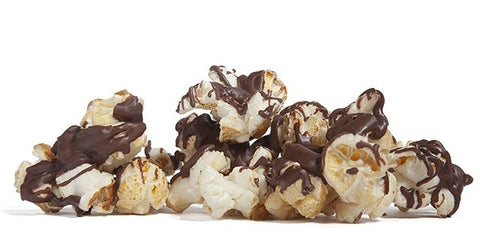 Milk Chocolate Drizzled Kettle Korn - Poppington's Gourmet Popcorn