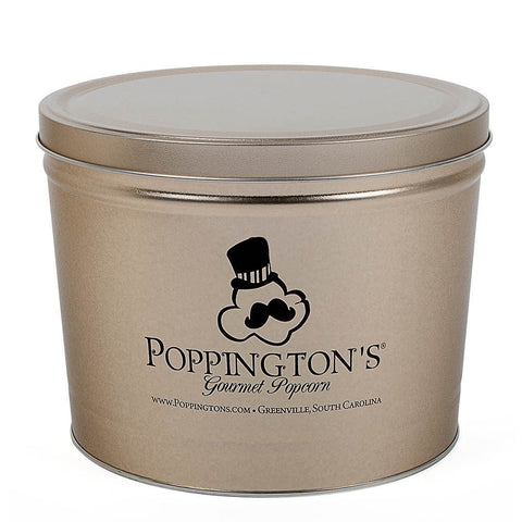 Poppington's 2 Gallon Chocolate Tin - Poppington's Gourmet Popcorn