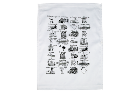 Greenville, South Carolina Scenes Dish Towel from Poppington's Gourmet Popcorn