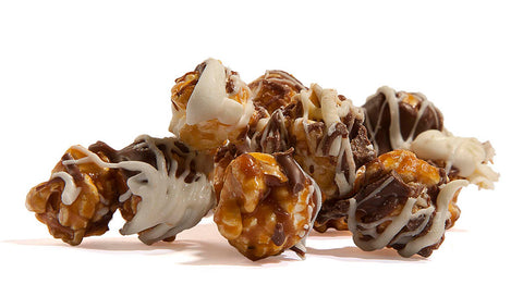 Tuxedo White Milk Chocolate Caramel by Poppington's Gourmet Popcorn