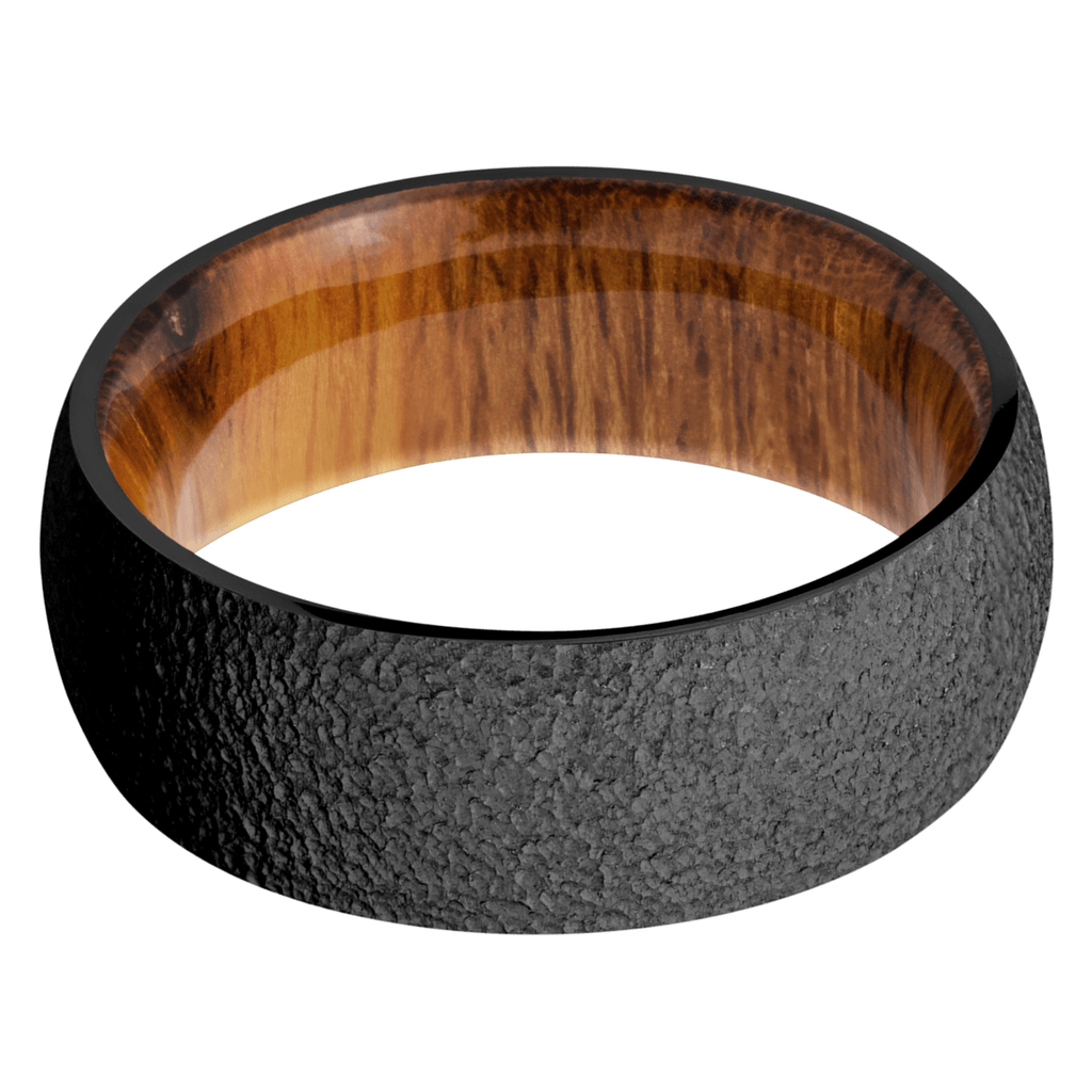 Black Zirconium Men's Wedding Bands