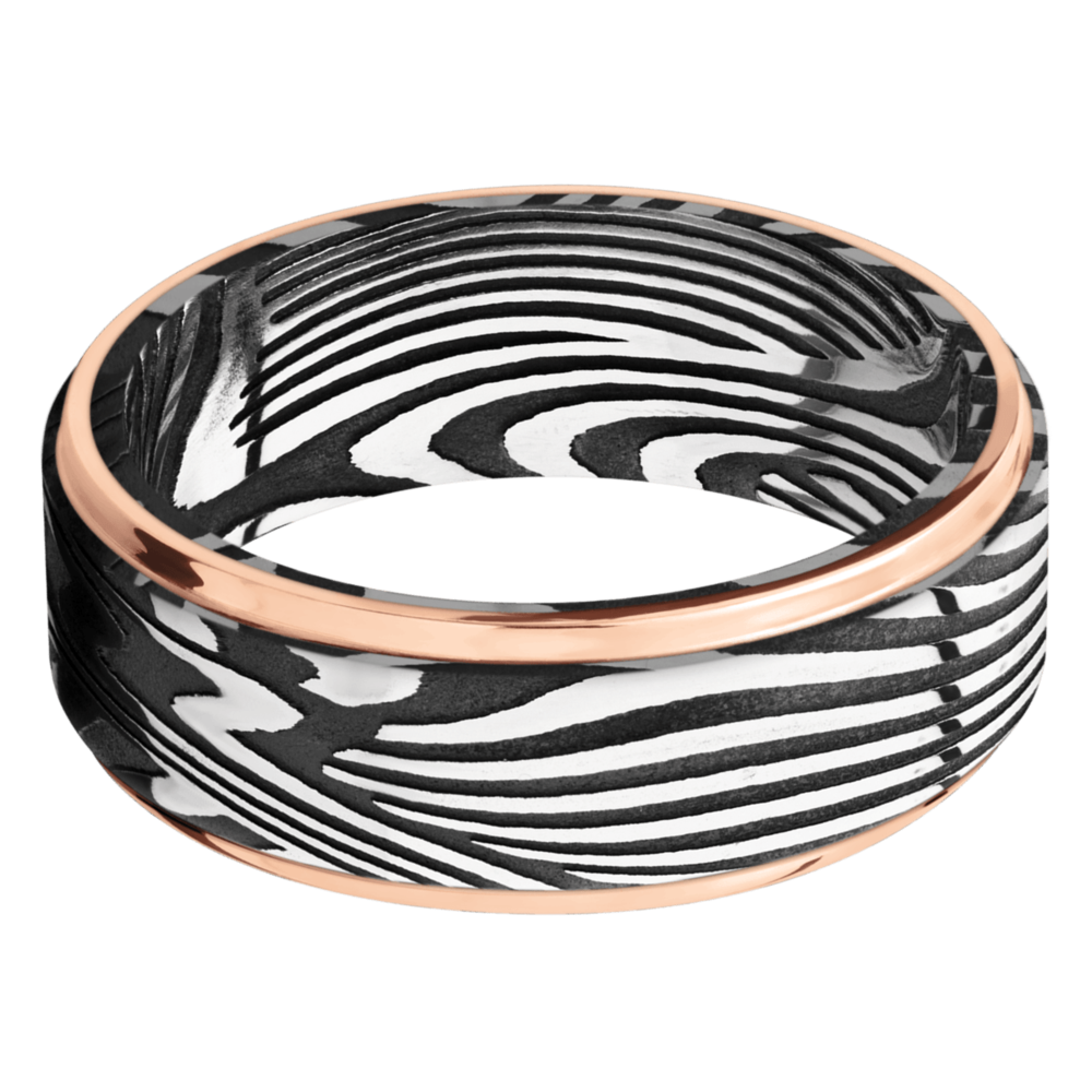 Damascus Steel Men's Wedding Bands