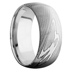 Ring with 10k White Gold Sleeve