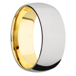 Ring with 10k Yellow Gold Sleeve