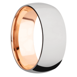 Ring with 18k Rose Gold Sleeve