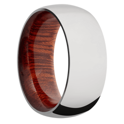 Ring with Blood Wood Sleeve