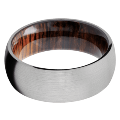 Cocobolo Hardwood Wedding Bands and Engagement Rings