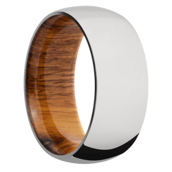 Ring with Desert Iron Wood Sleeve
