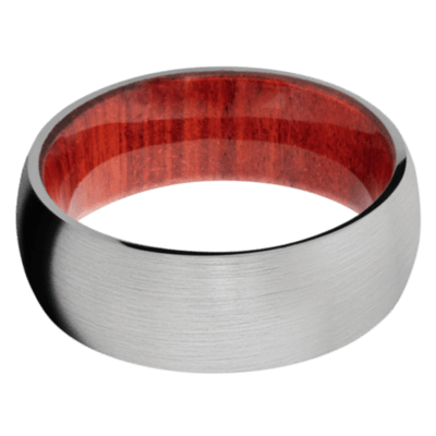 Red Heart Hardwood Wedding Bands and Engagement Rings
