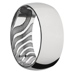 Ring with Tiger Damascus Steel Sleeve