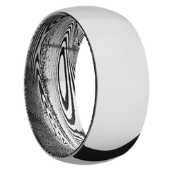 Ring with Tightweave Damascus Steel Sleeve