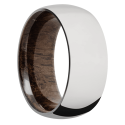 Ring with Walnut Sleeve