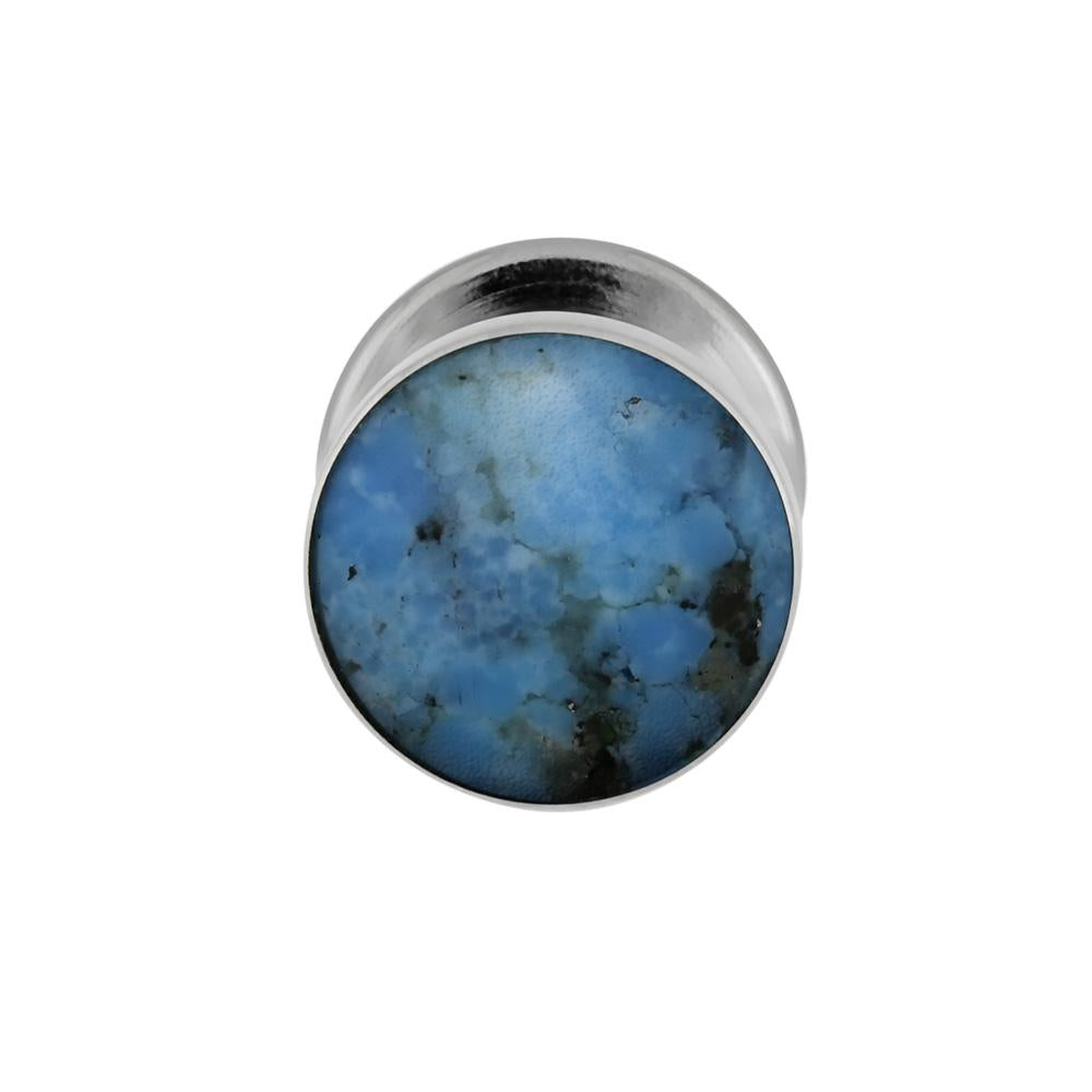Lava Mosaic Turquoise Tie Tack With Sterling Silver