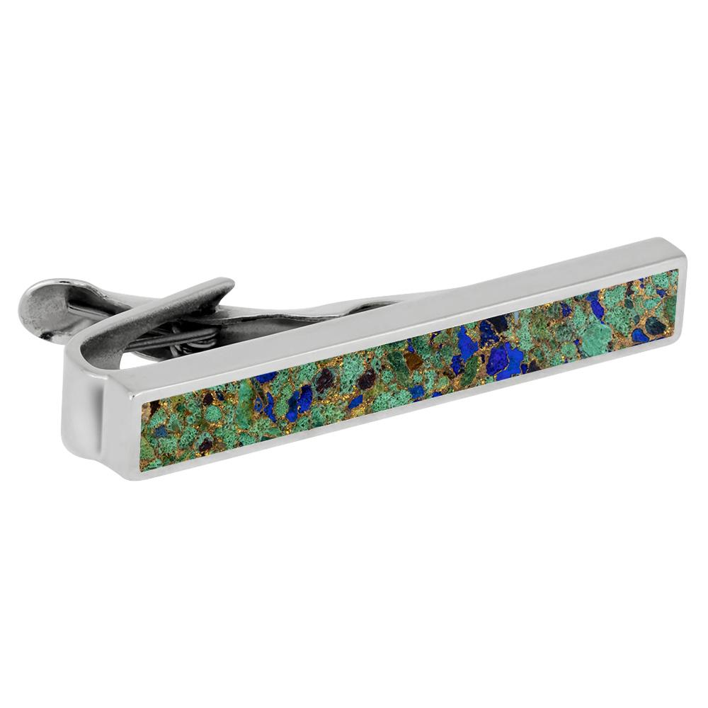 Desert Mosaic Tie Clip in Sterling Silver
