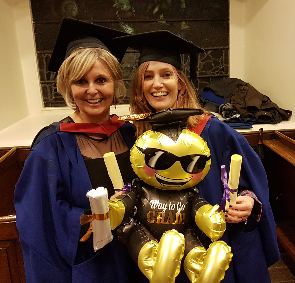 Congratulations ! Noeleen and Marguerite receive their Masters Degrees