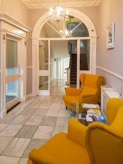Waiting area in Athena Counselling at 15 Loewer Mount Street, Dublin