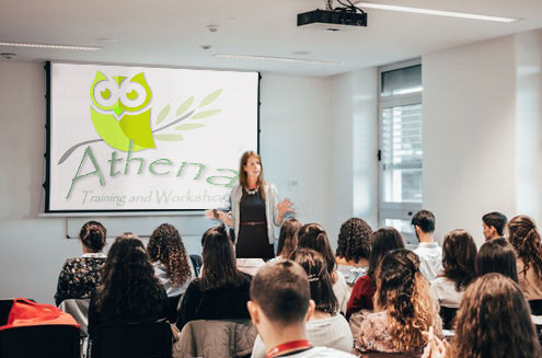 Athena counselling workshop in progress