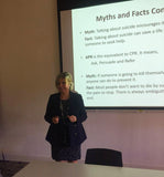 Athena Counselling director MArguerite Kiely giving lecture to DIT students