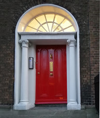 Front door of Athena Counselling Services at 15 Lower Mount Street, Dublin