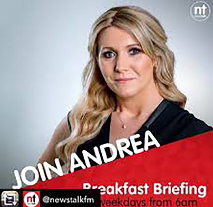 Photo of Andrea Gilligan of Newstalk FM RAdio