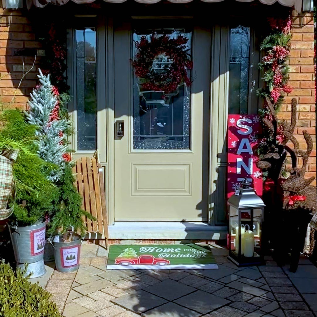 Front Door Decorating DIY