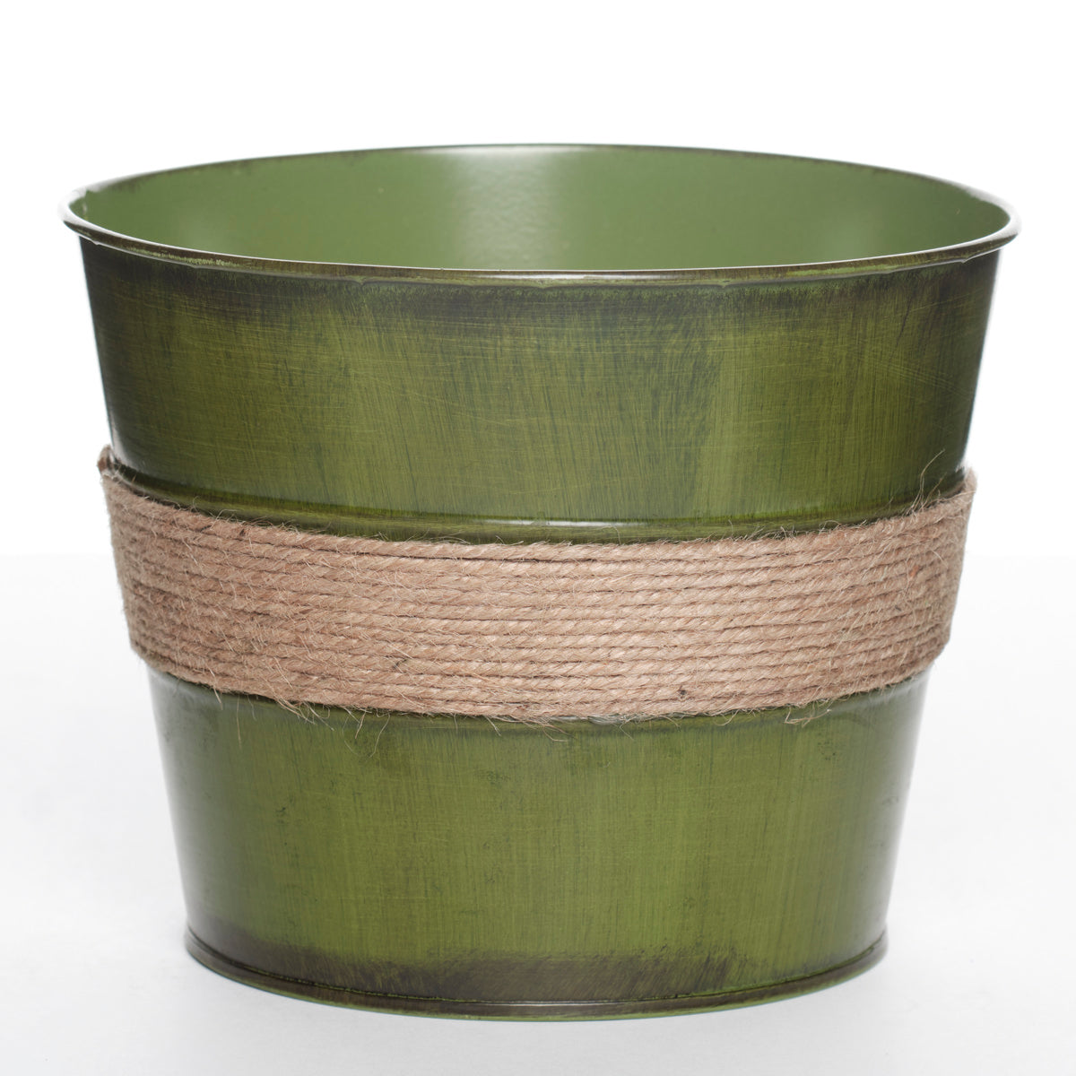 Flower Pot with Rope Accent