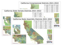 2021-2022 California Legislative Map Bundle