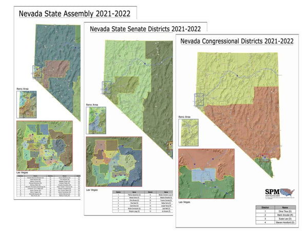 2021-2022 Nevada Legislative Map Bundle