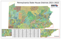 2021-2022 Pennsylvania State House Wall Map