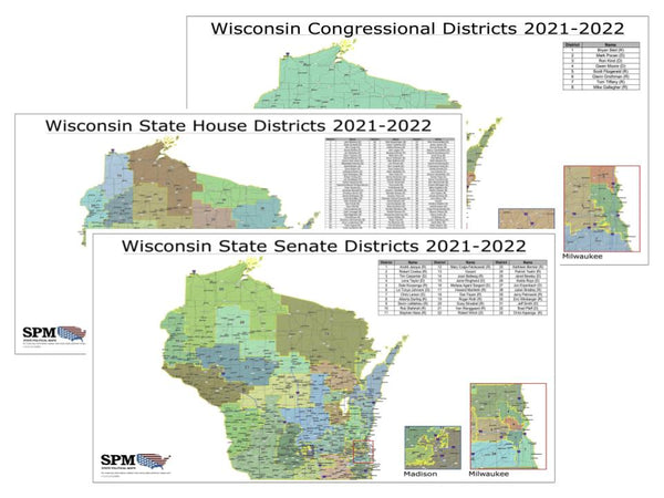 2021-2022 Wisconsin Legislative Map Bundle