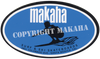 Makaha block logo sticker