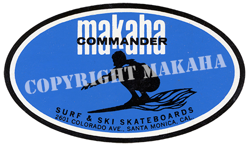 Makaha Commander sticker
