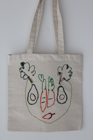 Salad Face :: art totes 4 good X Nadège Roscoe-Rumajn
