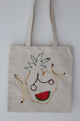 (Fruit) Salad Face :: art totes 4 good X Nadège Roscoe-Rumajn