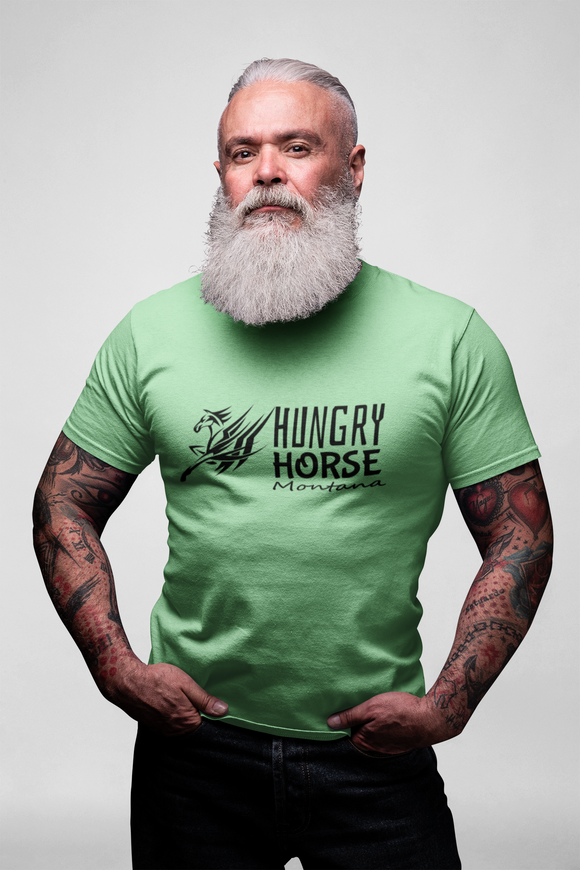 Montana Collection - Simple Elegant Design - Hungry Horse Montana - Short-Sleeve Unisex T-Shirt