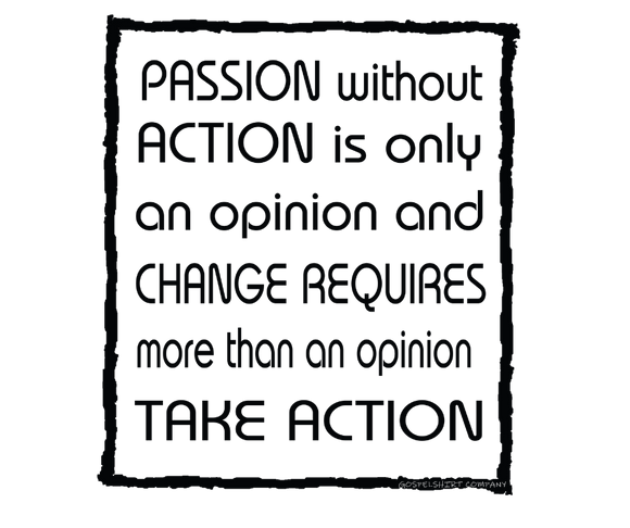 Take Action Adult T-Shirt