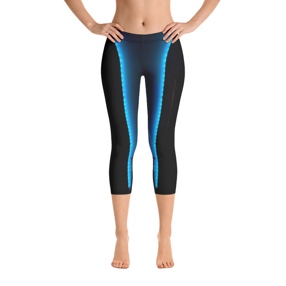 US Collection:  Blue Lights Capri Leggings