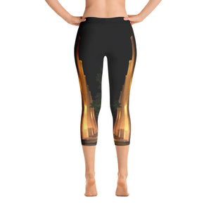 Pennsylvania Collection: Smokestacks Capri Leggings