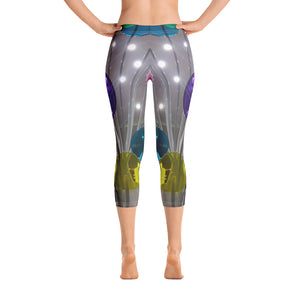 US Collection:  Lolipops Capri Leggings