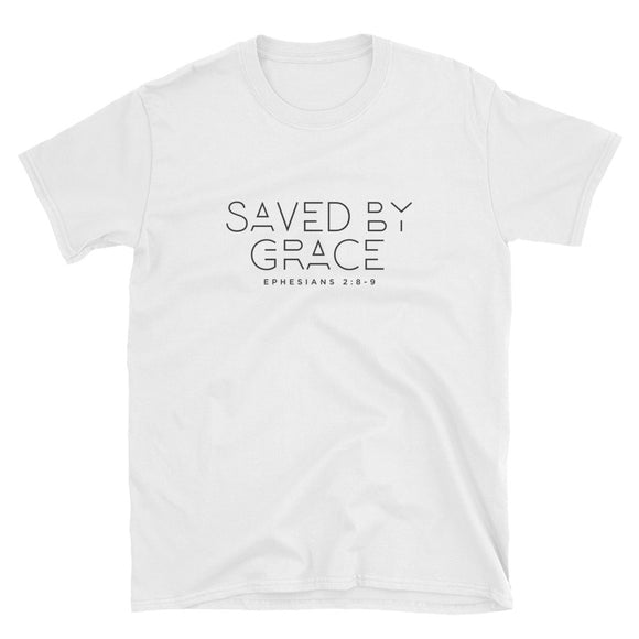 Saved By Grace - Heavier Cotton - Short-Sleeve Unisex T-Shirt