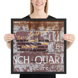 Saints Bible Verse French Quarter Framed FAN poster