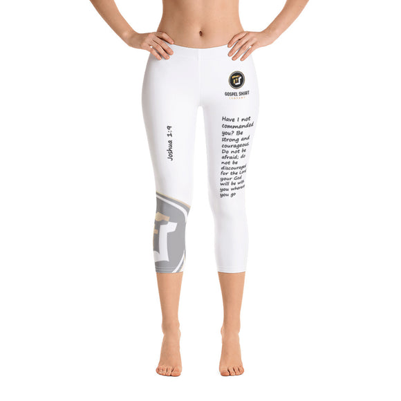 Bible Verse Collection: Joshua 1:9 Capri Leggings
