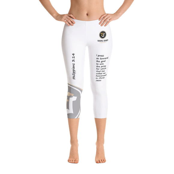 Bible Verse Collection: Philippians 3:14 Capri Leggings