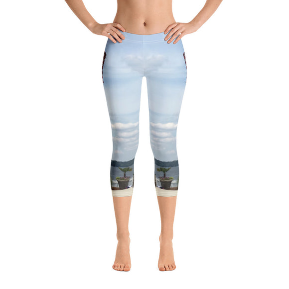 South Carolina Collection: Lake View American Flag Capri Leggings
