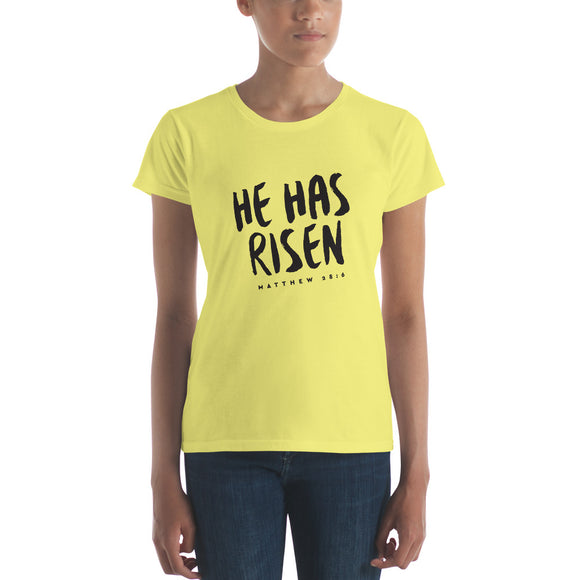 He Has Risen - Women's short sleeve t-shirt