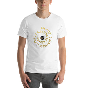 Be a Blessing to others (GOLD) - Short-Sleeve Unisex T-Shirt