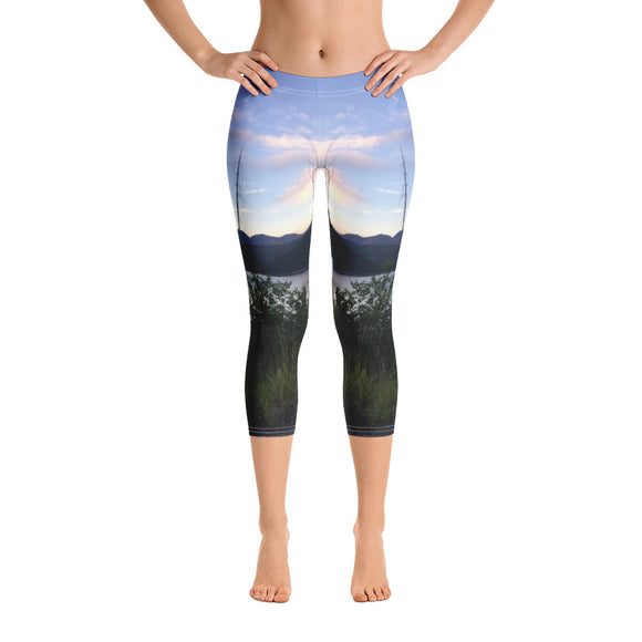 Montana Collection:  Lake Sunrise Capri Leggings