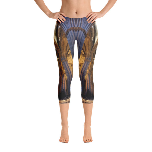 Europe Collection: Church Architecture Capri Leggings